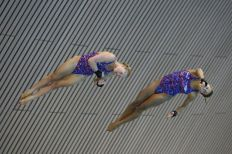 Tonia and Sarah win 10m Synchro bronze