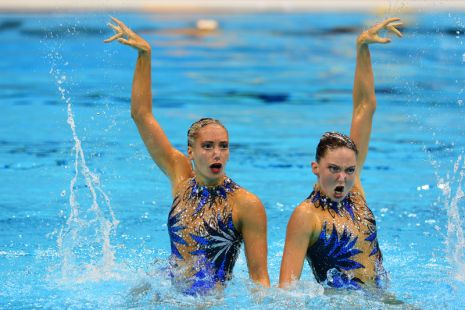 London 2012 Day Eleven Synchro Duet Free Final