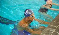 Payne and Jamieson take part in Royal Navy swimming test
