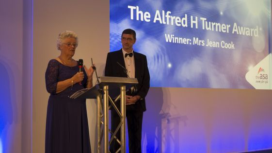 Jean Cook receives prestigious Alfred H Turner Award