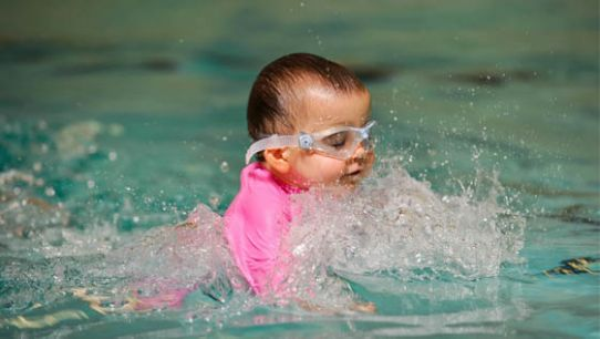 Miracle baby Rosanna swims for British Heart Foundation